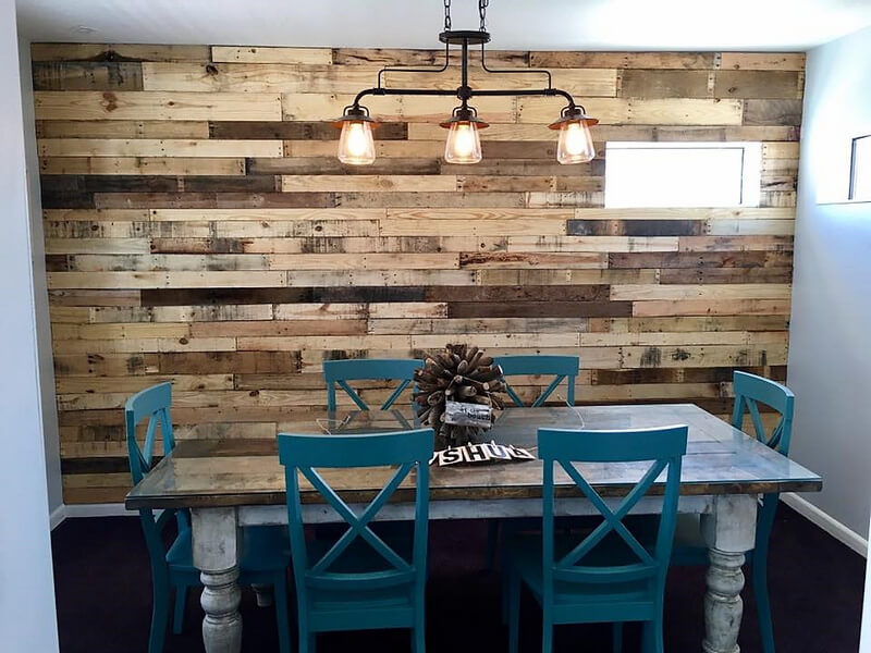 reused pallets wall art