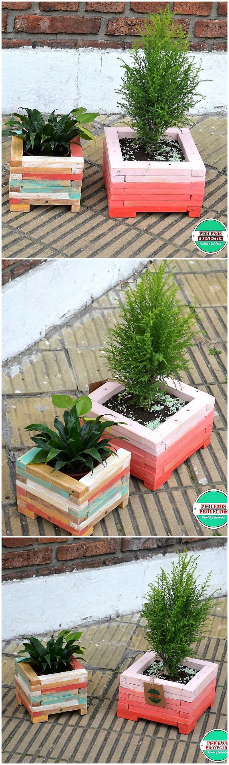 reused wood pallets planters