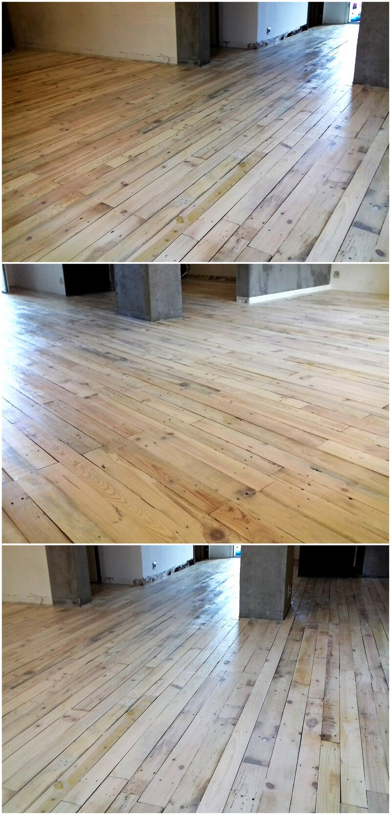 reusing of pallets for flooring