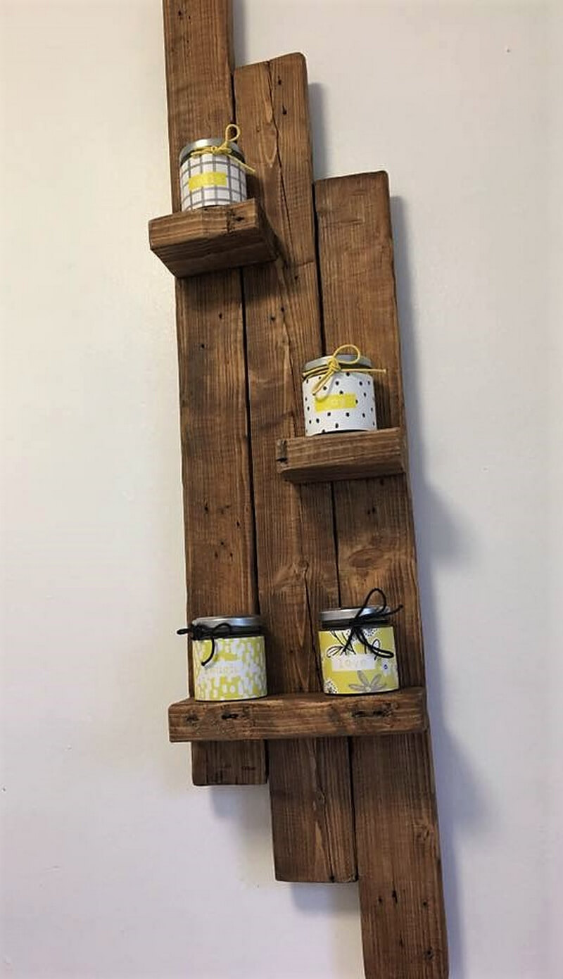 simpel wood pallets shelf