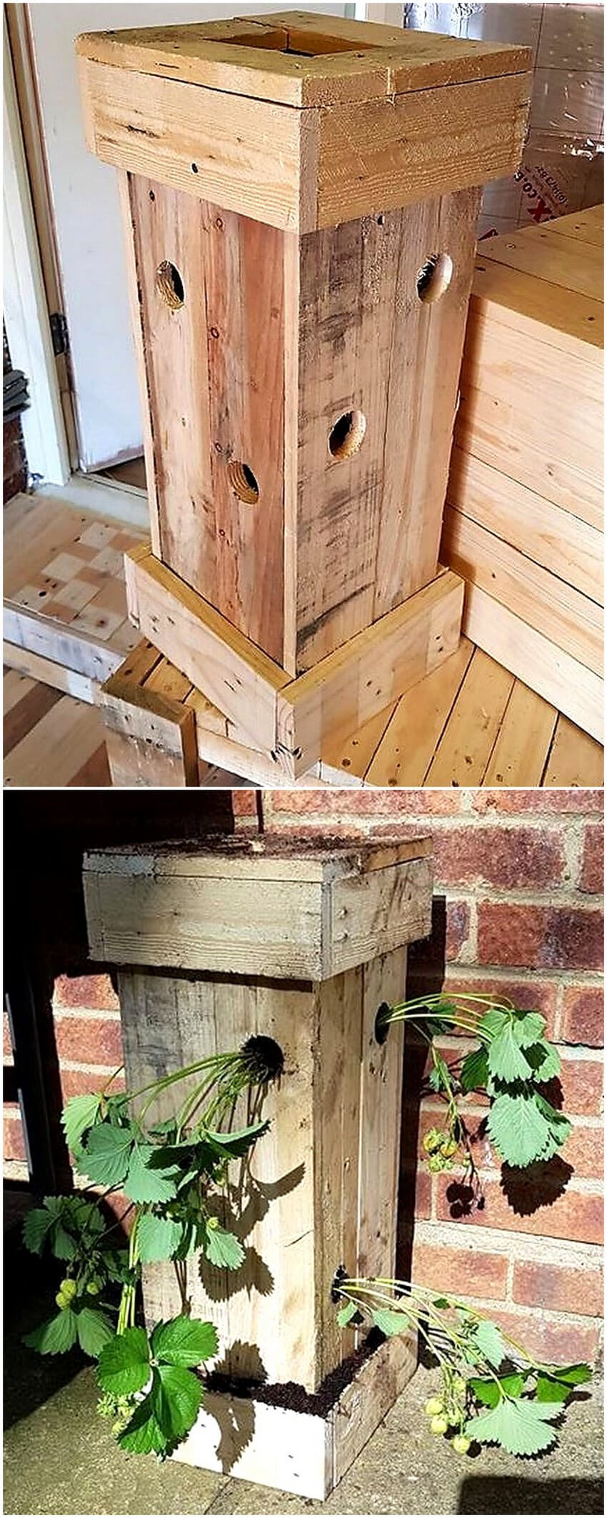 wood pallet planter idea