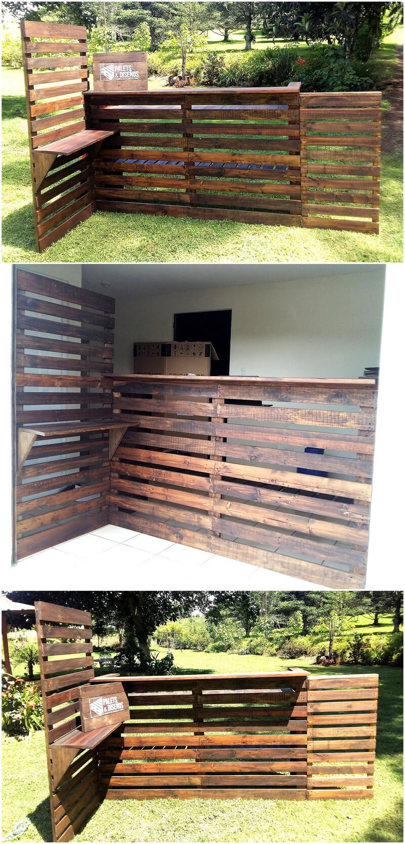 wood pallets bar idea
