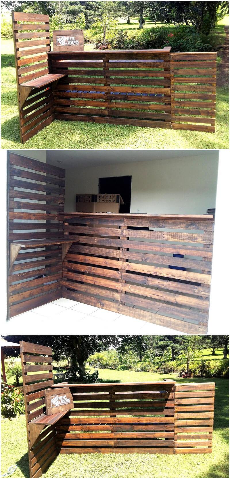 wood pallets bar idea