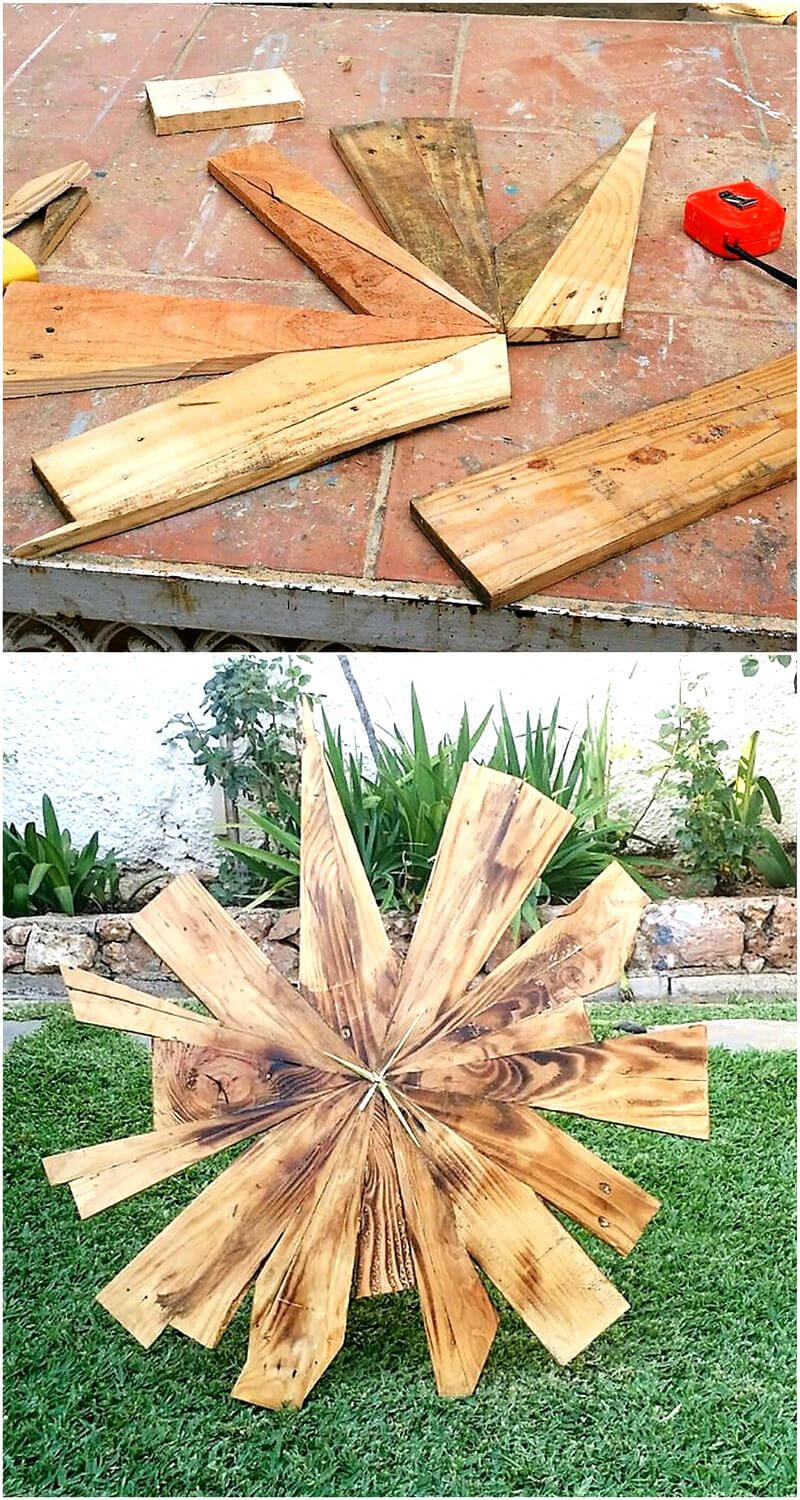 wood pallets garden art 1