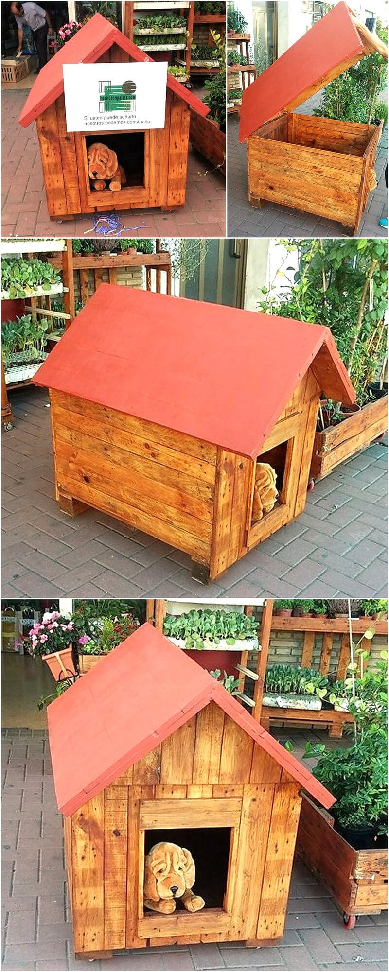 wood pallets made dog house
