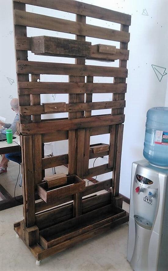 wood pallets pallets room divider