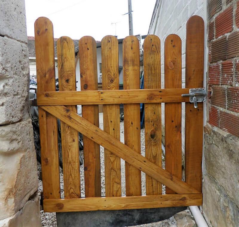 wood pallets patio door