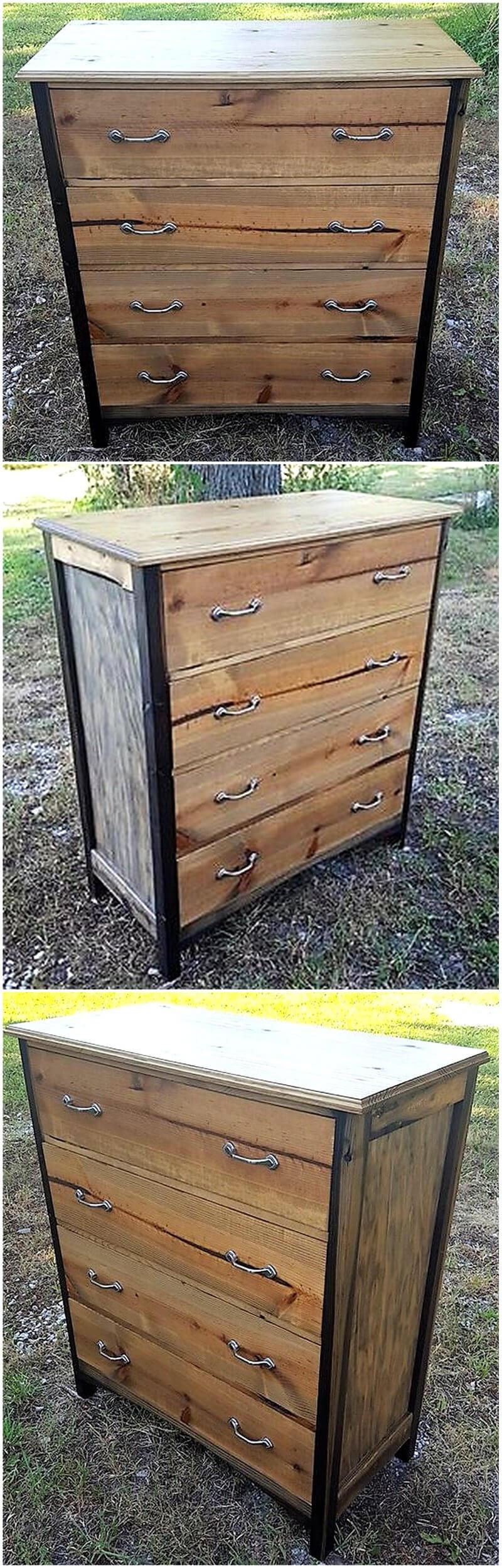 wood pallets repurposed dresser