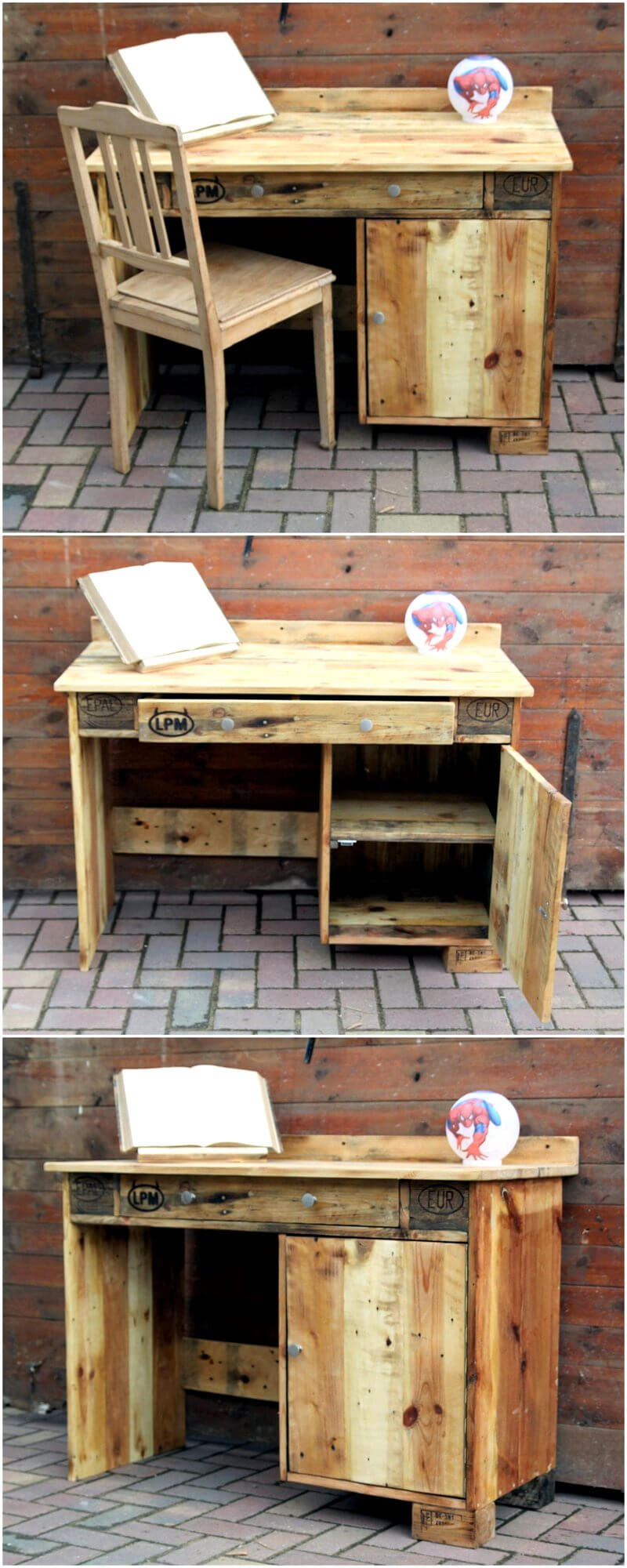 wood pallets study table project