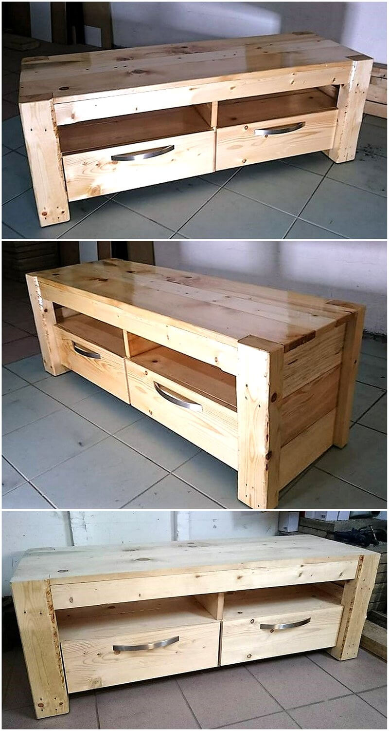 wood pallets tv stand 1