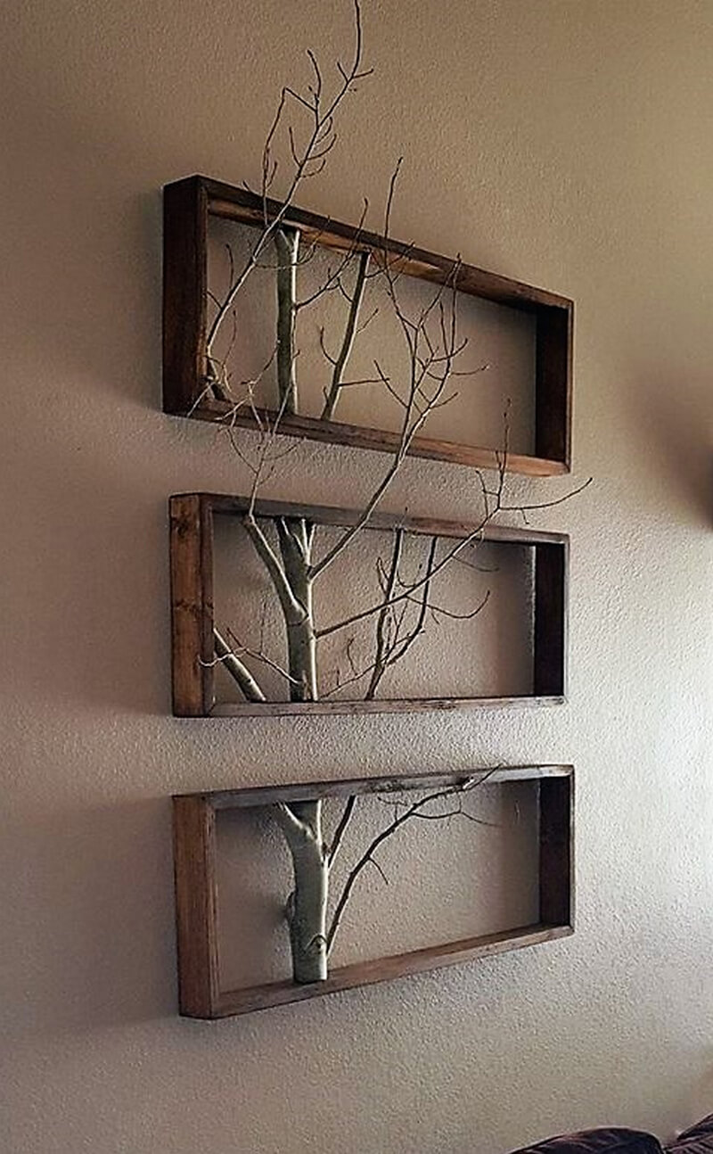 Diy pallet ideas that are easy to make wood pallet furniture for Wooden art home decorations