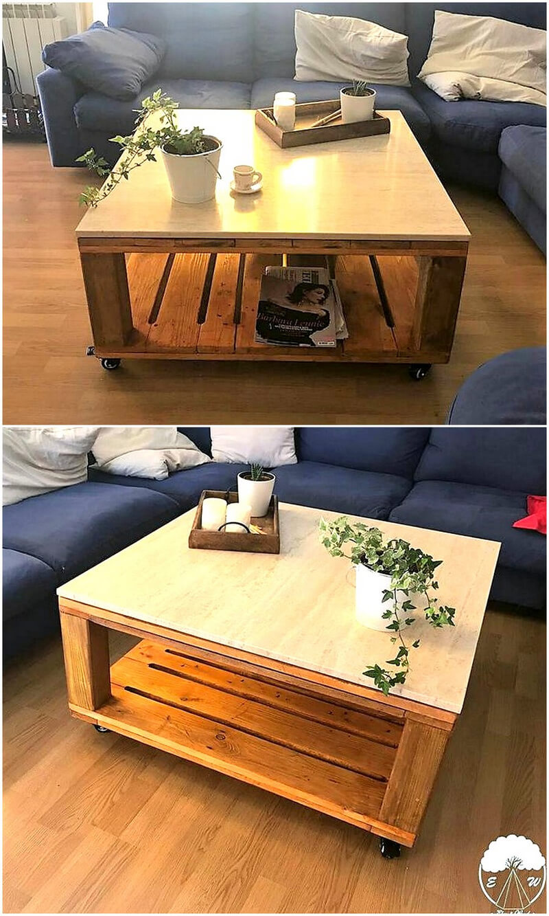 wooden pallets coffee table 1