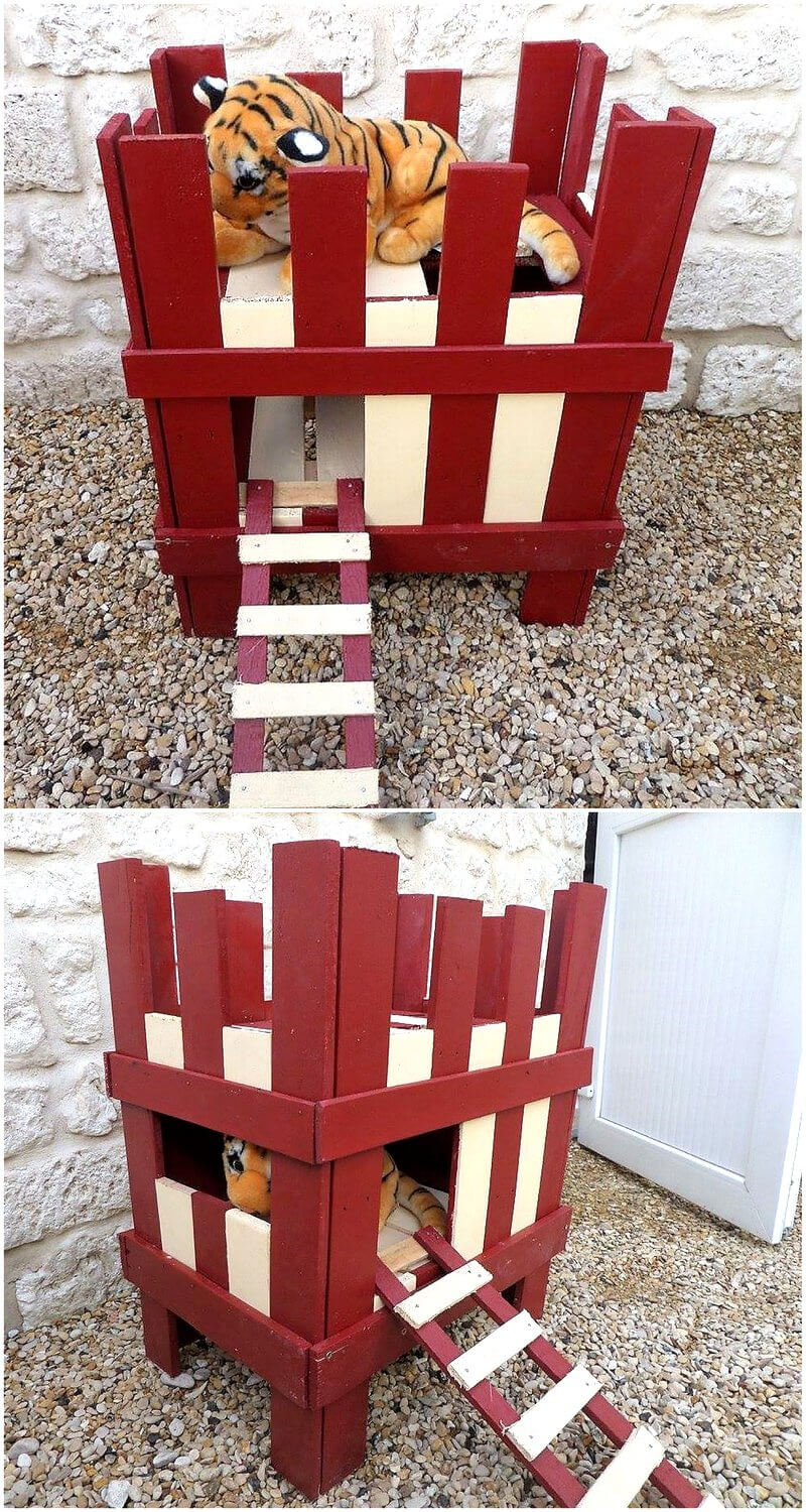 wooden pallets dog house