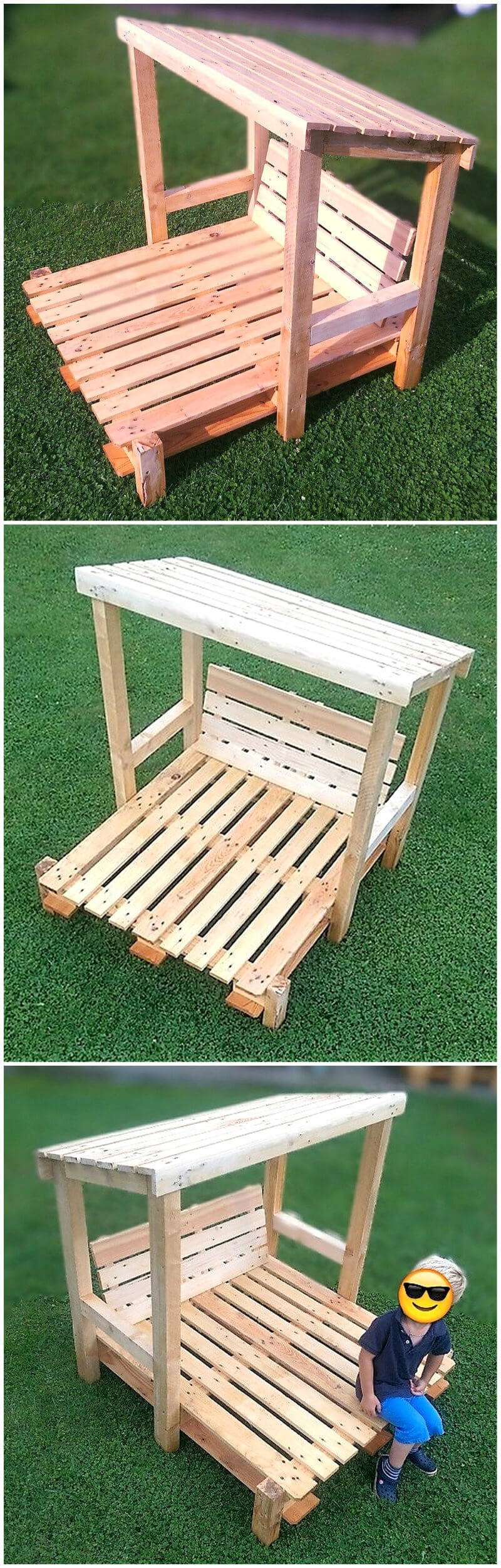 wooden pallets kids chair idea