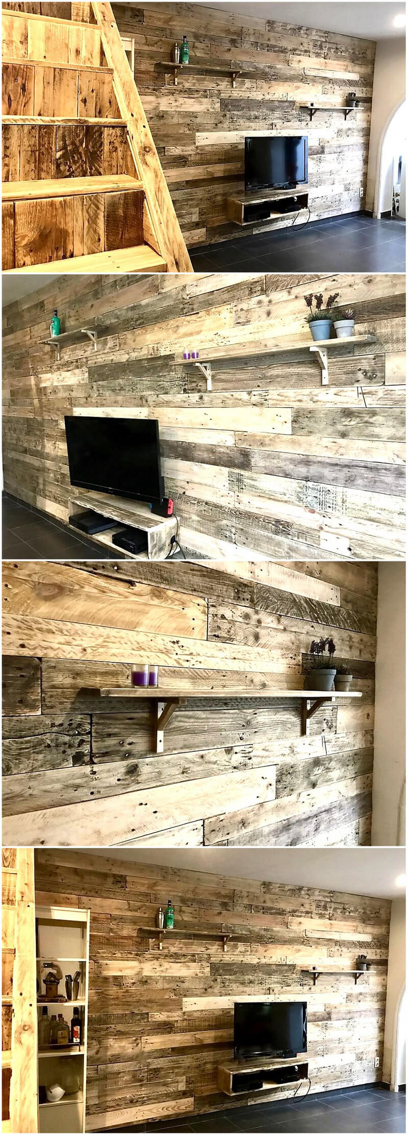 wooden pallets wall art plan