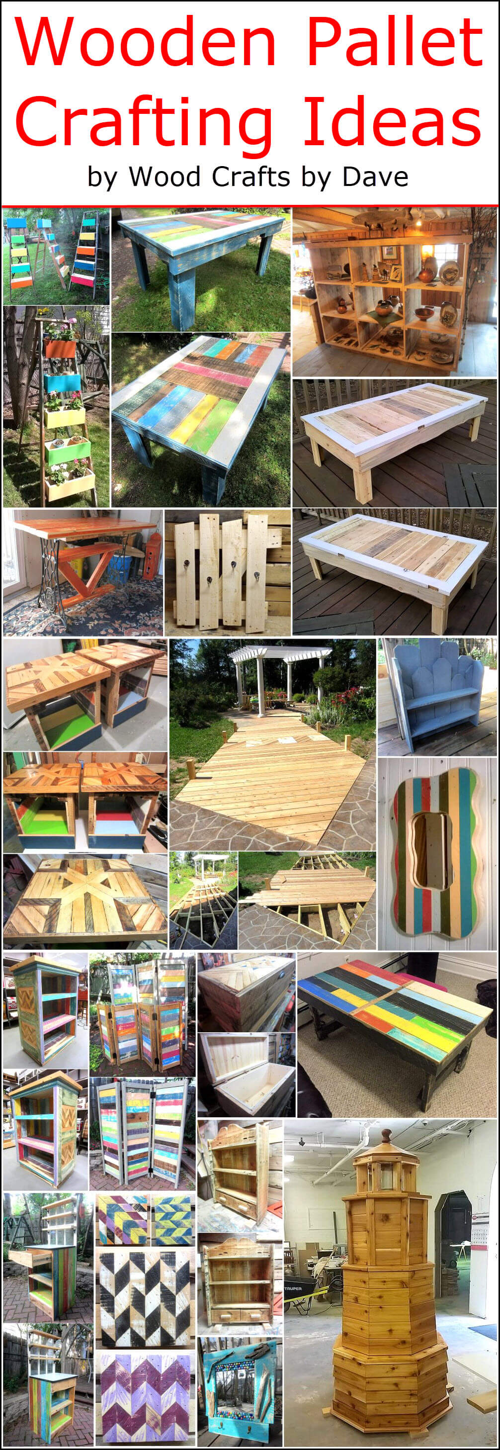 Wood Pallet Crafting Ideas
