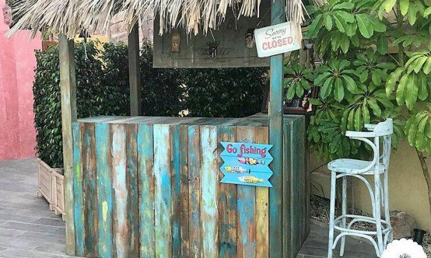 Pallets Wooden Made Retro Look Bar