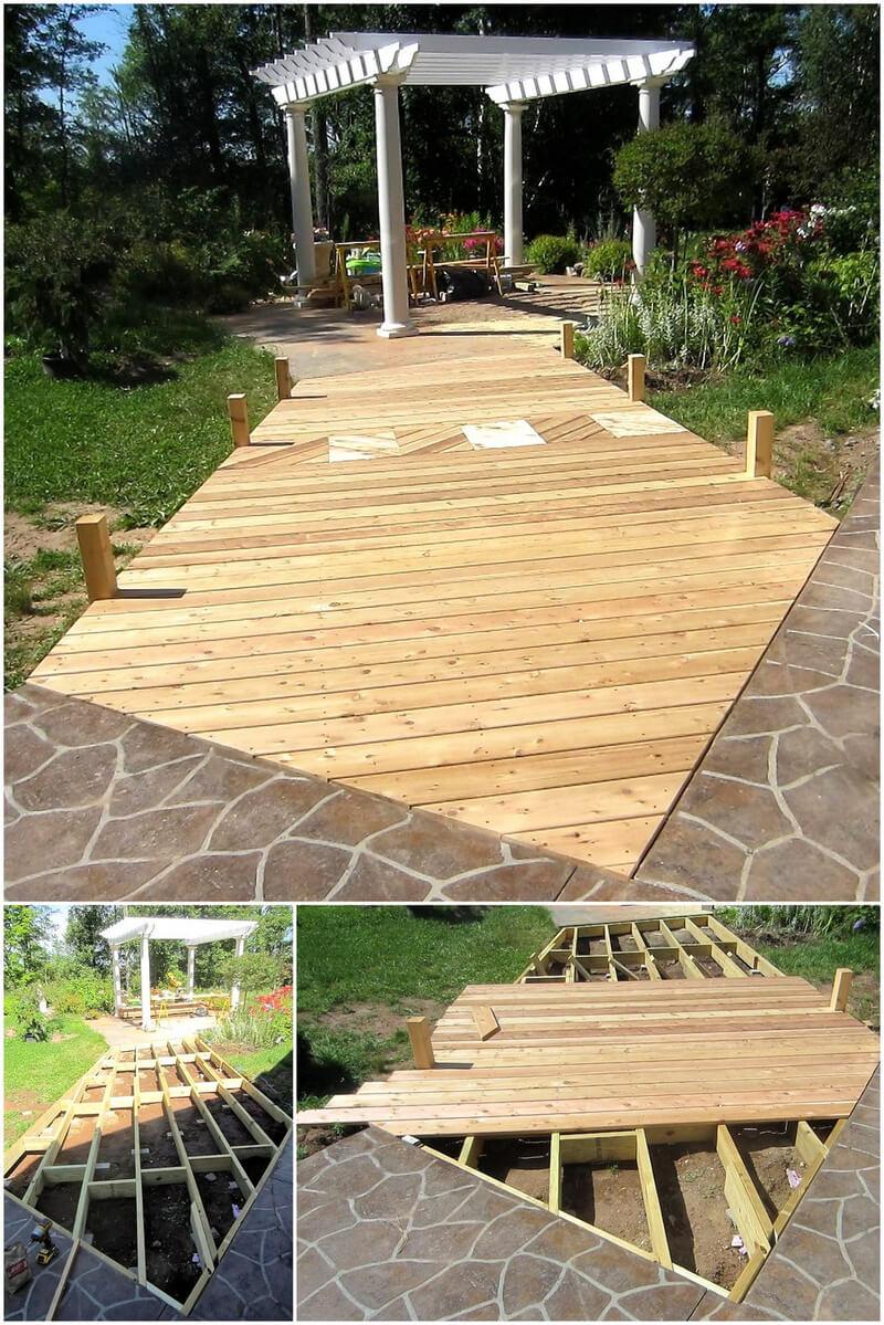 diy pallets garden deck