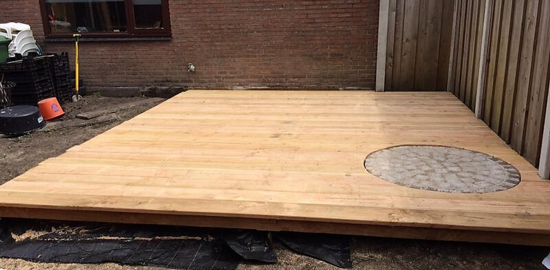diy pallets wooden terrace