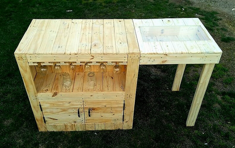 diy wood pallets garden bar table 10