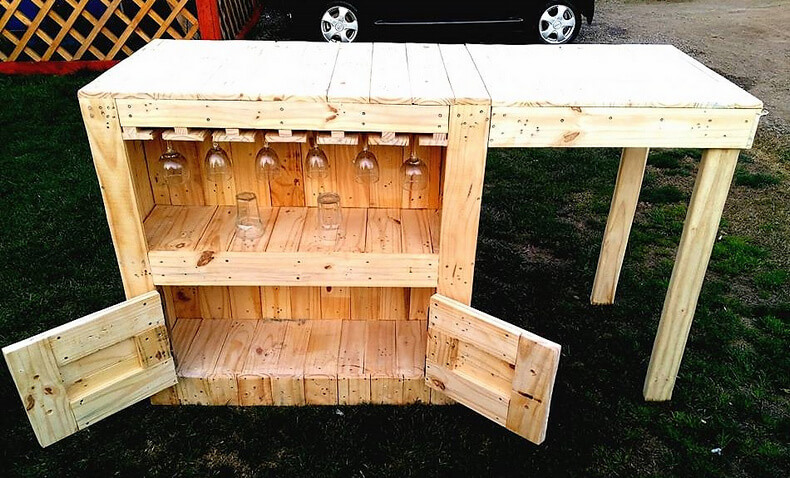 diy wood pallets garden bar table 11