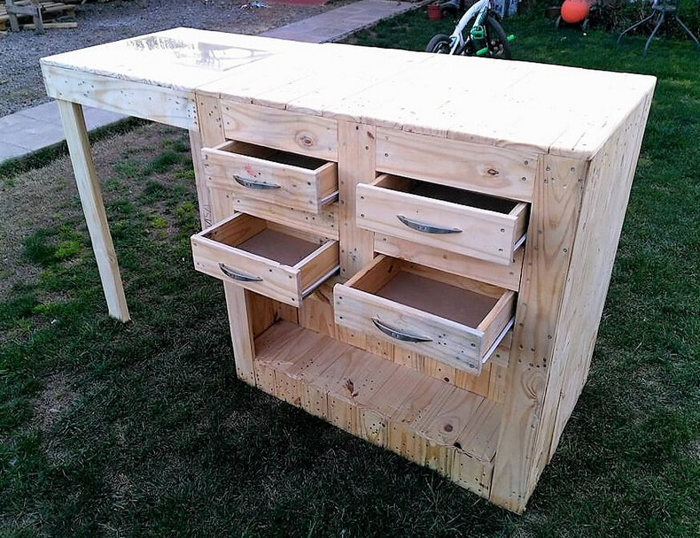 diy wood pallets garden bar table 12