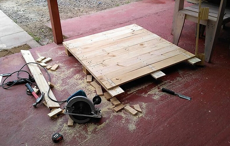 diy wood pallets garden bar table 2