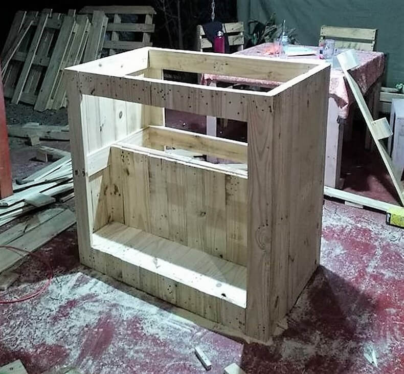 diy wood pallets garden bar table 3