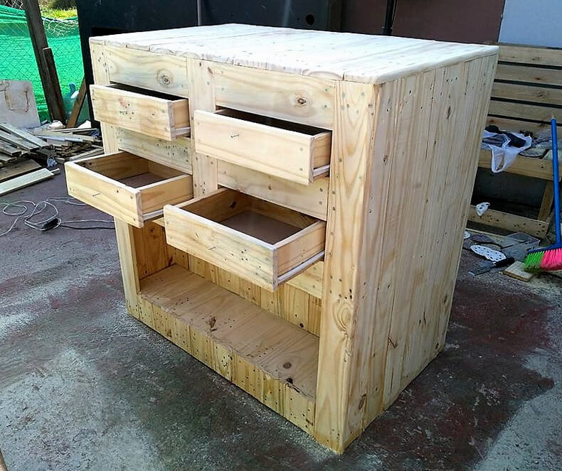 diy wood pallets garden bar table 7