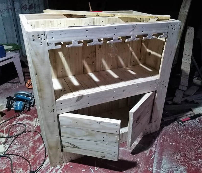 diy wood pallets garden bar table 8