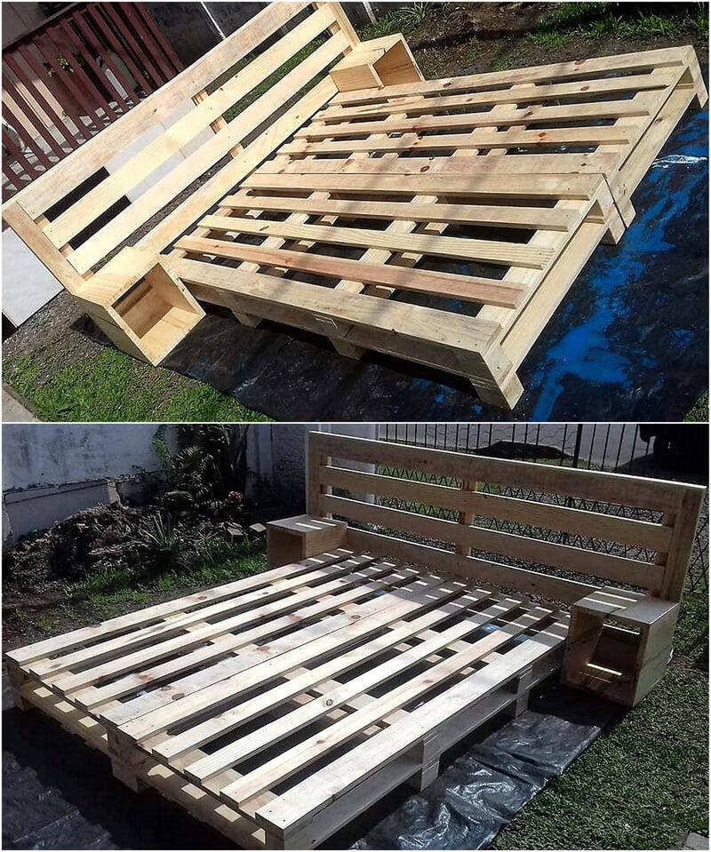 giant pallet bed frame