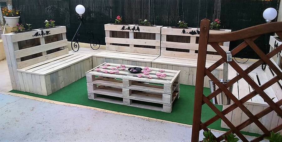 pallet furniture for patio lounge 4