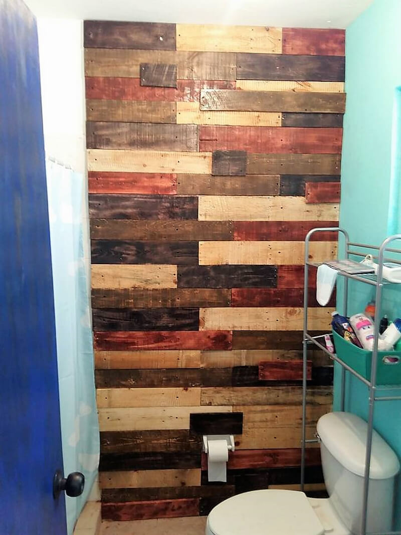 pallet wall art for bathroom