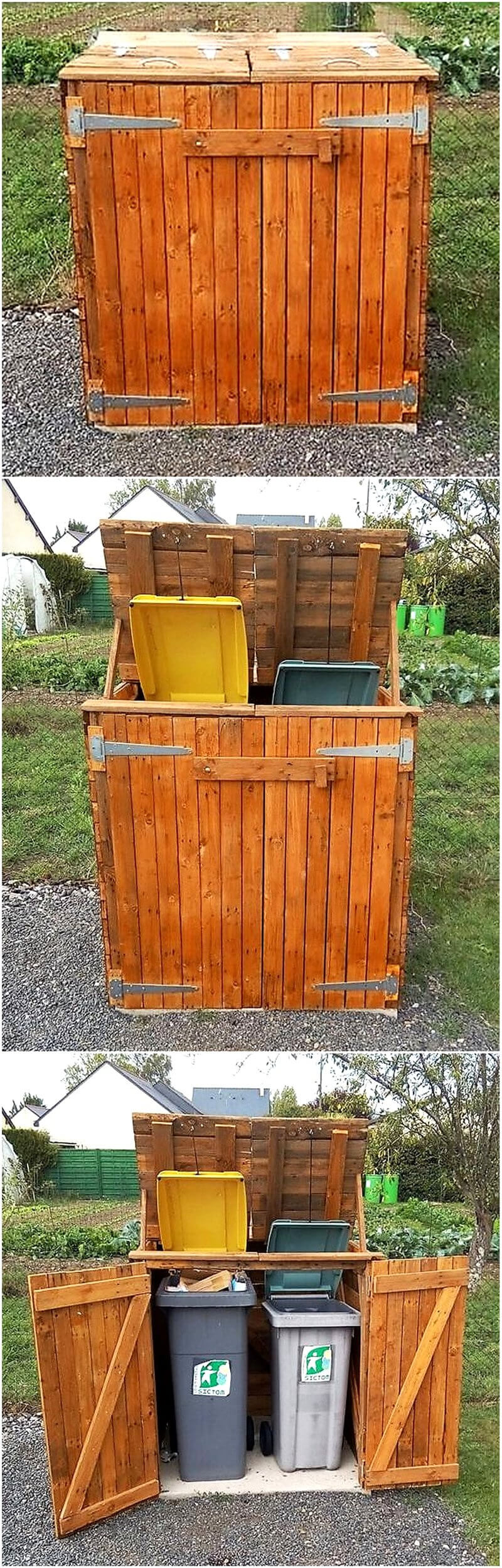 pallets Garbage can