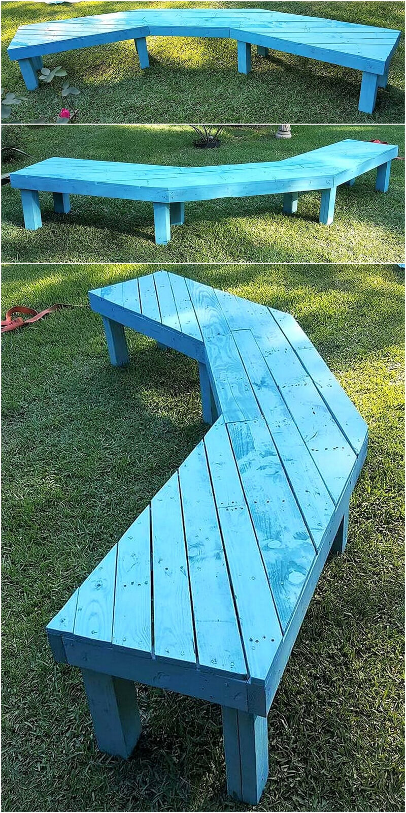 pallets garden bench art