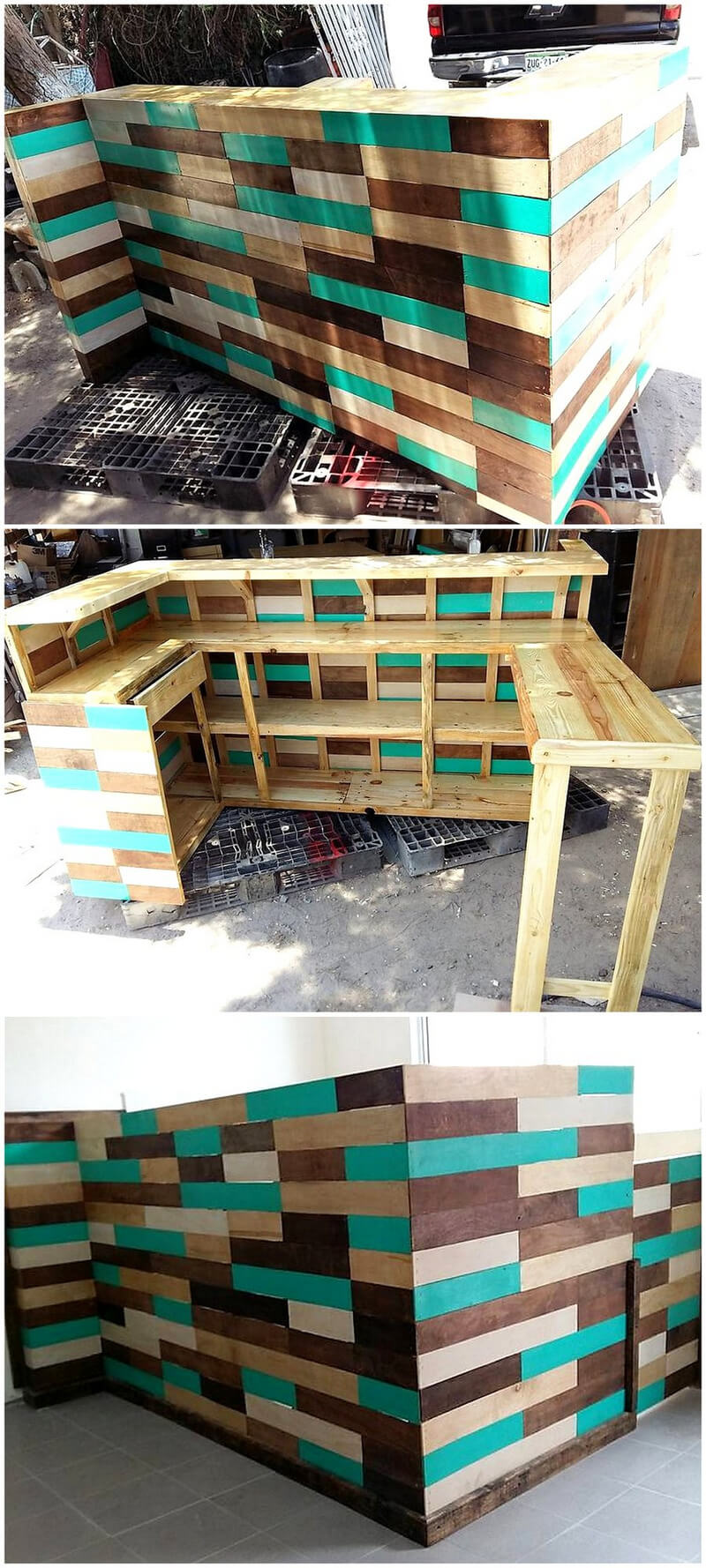 pallets made bar idea
