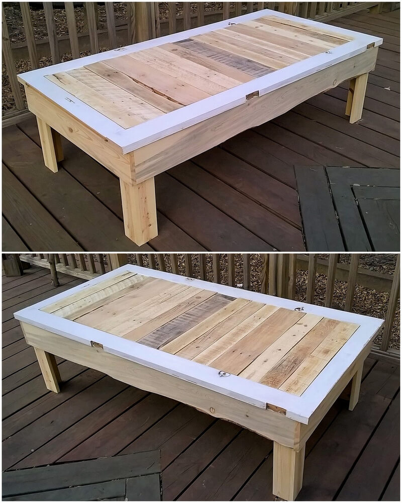 pallets made bench