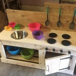 Kids Mud Kitchen Made with Wood Pallets