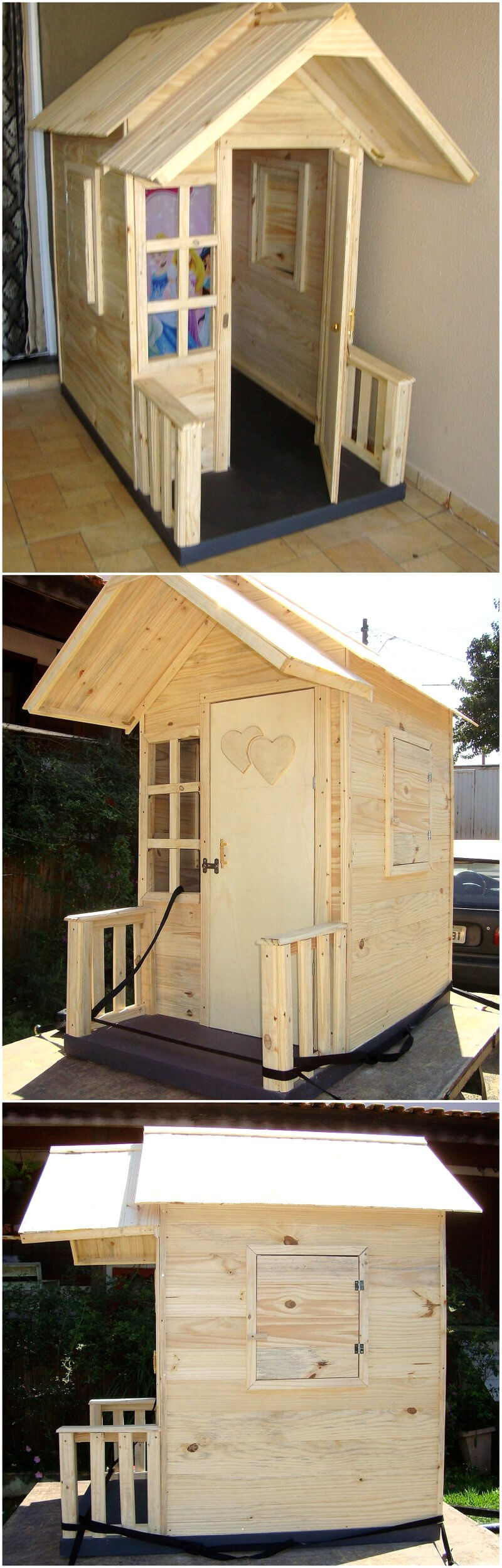 pallets made kids playhouse