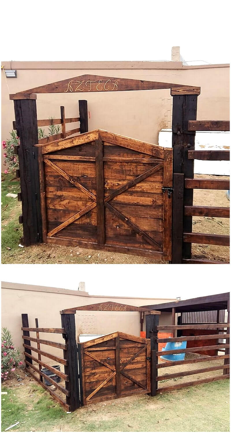 pallets patio door idea