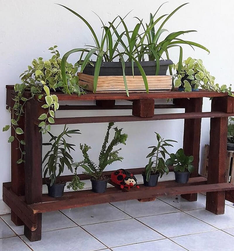 pallets patio entryway planter table