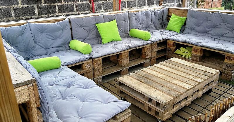 pallets patio terrace lounge