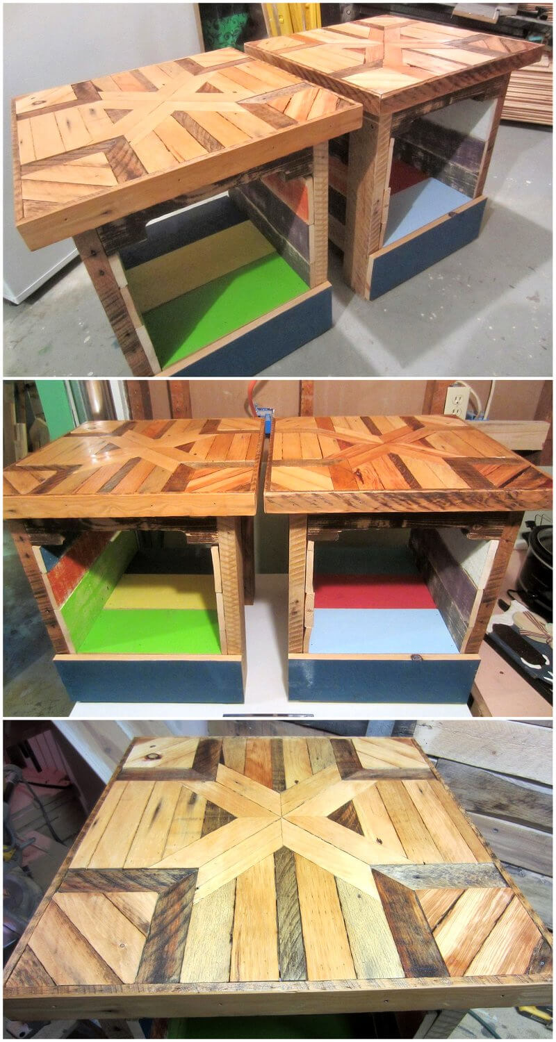 pallets side tables