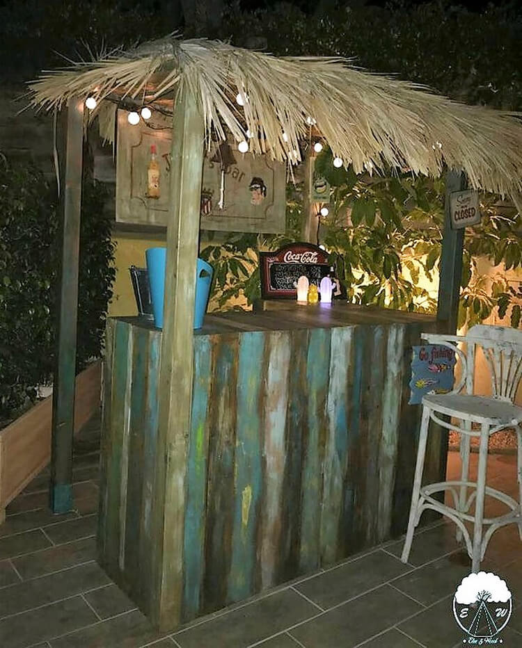 pallets wooden bar plan