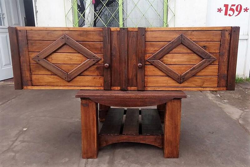 pallets wooden bed headboard