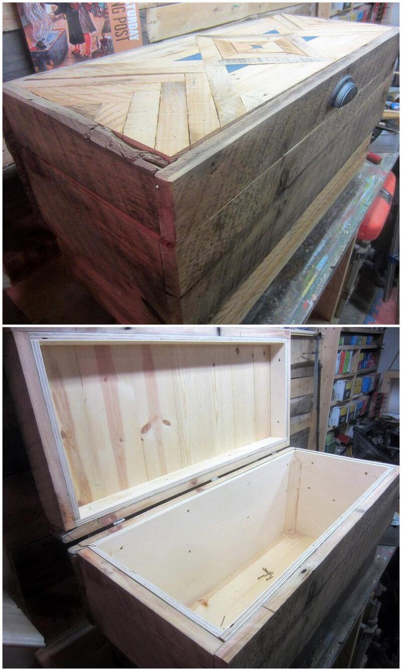 pallets wooden chest plan