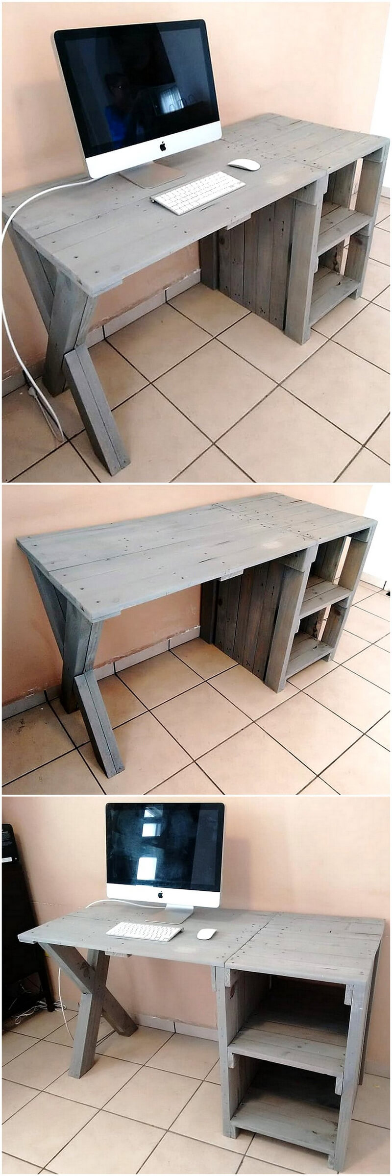pallets wooden pc table