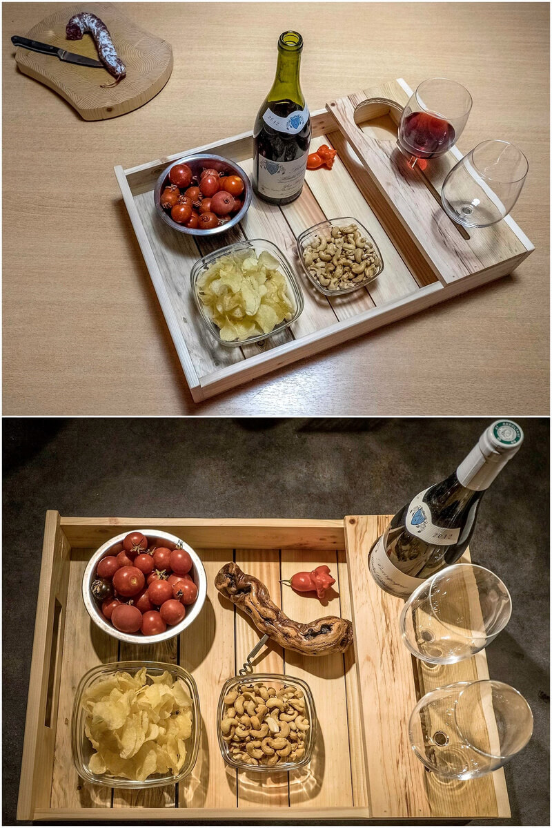 pallets wooden serving tray