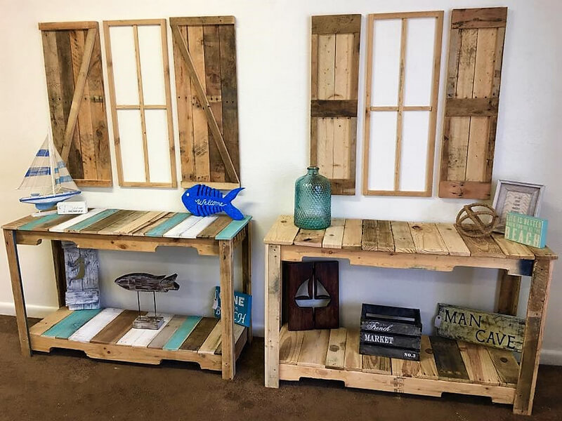 pallets wooden side tables ideas
