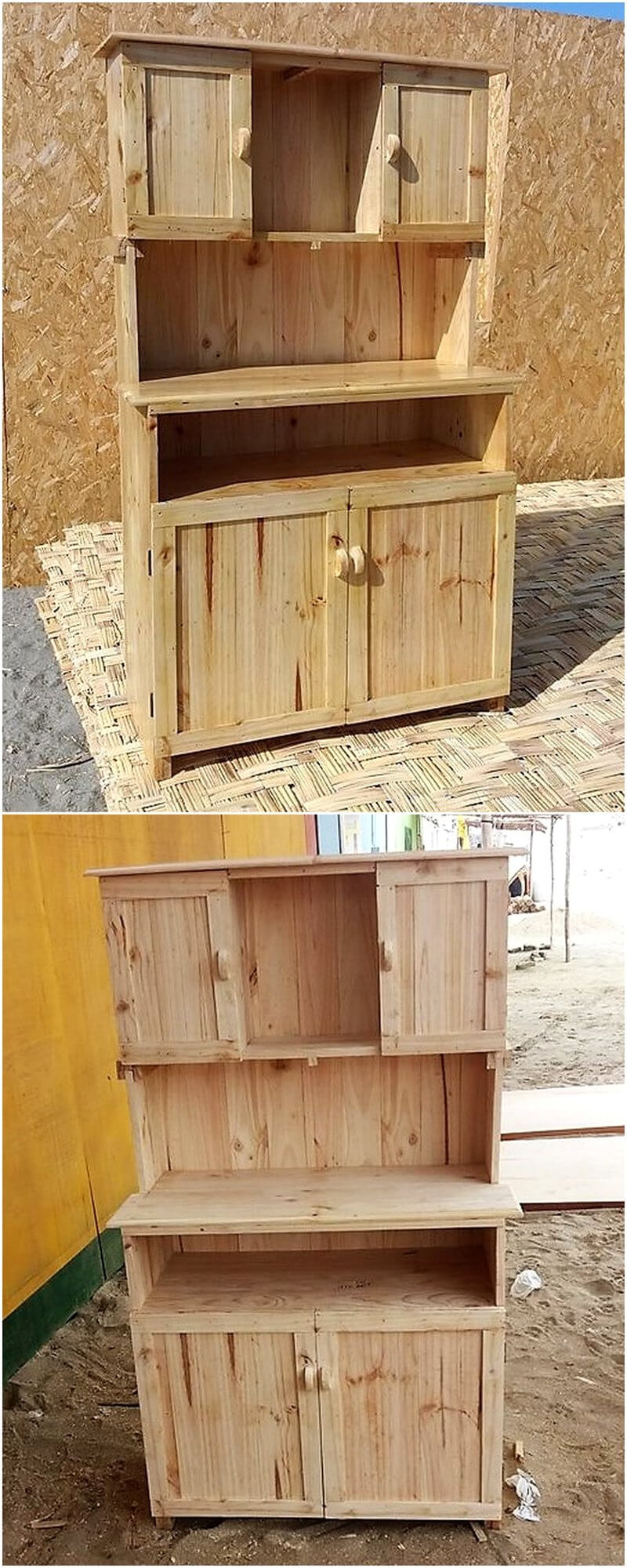recycled pallets cupboard